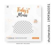 food menu banner social media... | Shutterstock .eps vector #1909363351