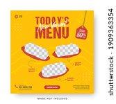food menu banner social media... | Shutterstock .eps vector #1909363354