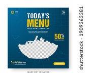 food menu banner social media... | Shutterstock .eps vector #1909363381