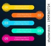 5 steps  option or levels...   Shutterstock .eps vector #1909365724