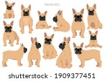 french bulldogs in different... | Shutterstock .eps vector #1909377451