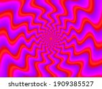 rotation red waves. spin...   Shutterstock .eps vector #1909385527