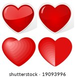 vector  hearts. the upper two...   Shutterstock .eps vector #19093996