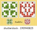 unique sudoku set | Shutterstock .eps vector #190940825