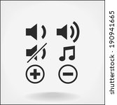 Music symbols and icons vector icon set