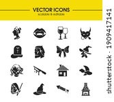 feast icons set with festive...