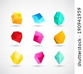 polygon symbol icons set  ... | Shutterstock .eps vector #190941959