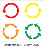 4 rotate color arrow icon sign. ... | Shutterstock .eps vector #190942031