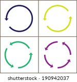 4 rotate color arrow icon sign. ... | Shutterstock .eps vector #190942037