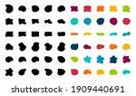 blob shapes vector set. organic ...   Shutterstock .eps vector #1909440691