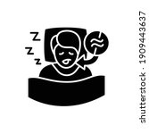 apnea glyph icon. sleep... | Shutterstock .eps vector #1909443637