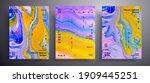 abstract acrylic placard  fluid ...   Shutterstock .eps vector #1909445251