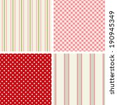 set of four cute seamless... | Shutterstock .eps vector #190945349