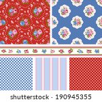 shabby chic rose patterns and... | Shutterstock .eps vector #190945355
