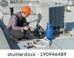 air conditioning repair  young ... | Shutterstock . vector #190946489
