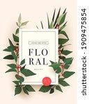 bright floral background design ... | Shutterstock .eps vector #1909475854