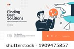 landing page template of... | Shutterstock .eps vector #1909475857