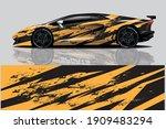 car wrap graphic racing... | Shutterstock .eps vector #1909483294
