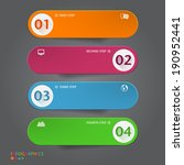 number banners template.... | Shutterstock .eps vector #190952441