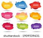 collection of modern banners... | Shutterstock . vector #1909539631
