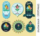 tulips flower vector labels   Shutterstock .eps vector #190954661