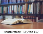 open book on the desk | Shutterstock . vector #190955117
