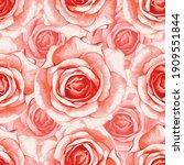 seamless pattern floral... | Shutterstock .eps vector #1909551844