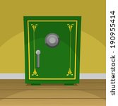 green retro safe box vector... | Shutterstock .eps vector #190955414