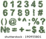stone digits covered with ivy ... | Shutterstock . vector #190955801