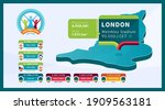 isometric london country map... | Shutterstock .eps vector #1909563181