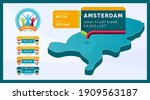 isometric netherlands country... | Shutterstock .eps vector #1909563187