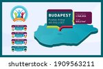 isometric hungary country map... | Shutterstock .eps vector #1909563211