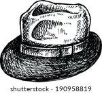 sketch of cap   vector...   Shutterstock .eps vector #190958819