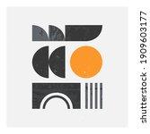 abstract bauhaus geometric...   Shutterstock .eps vector #1909603177