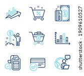 finance icons set. included... | Shutterstock .eps vector #1909610527