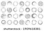 speed lines in circle form. set ... | Shutterstock . vector #1909618381