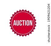 auction icon label badge design ... | Shutterstock .eps vector #1909621204