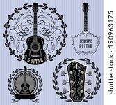 set of vector labels with... | Shutterstock .eps vector #190963175