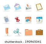 office icons set 1   retro... | Shutterstock .eps vector #190965041