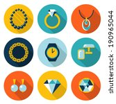 set of jewelry vector flat icons   Shutterstock .eps vector #190965044
