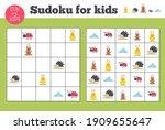sudoku. kids and adult...   Shutterstock .eps vector #1909655647