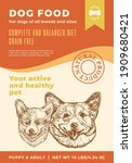 dog food label template.... | Shutterstock .eps vector #1909680421