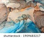 Aquamarine Marble Print...