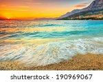 Magical Sunset Over The Beach...