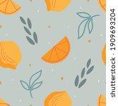 lemon seamless pattern for... | Shutterstock .eps vector #1909693204