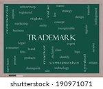 trademark word cloud concept on ... | Shutterstock . vector #190971071