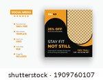 gym fitness social media post... | Shutterstock .eps vector #1909760107