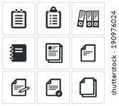 notepad paper documents icons... | Shutterstock . vector #190976024