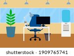 coworking office interior... | Shutterstock .eps vector #1909765741