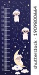 cute growth chart with animal...   Shutterstock .eps vector #1909800664